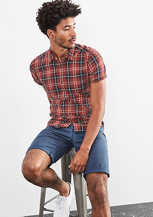 Extra Slim: checked shirt from s.Oliver