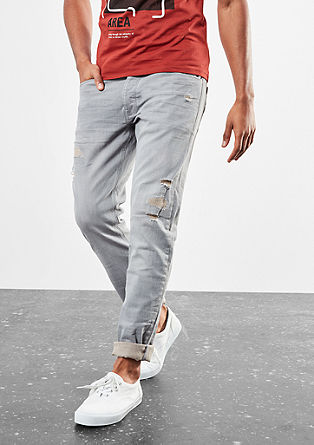 Rick Slim: Graue Used-Jeans