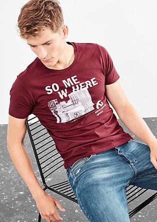 Shirt met een tekst- en fotoprint