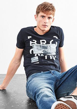 Shirt mit Typo- und Fotoprint