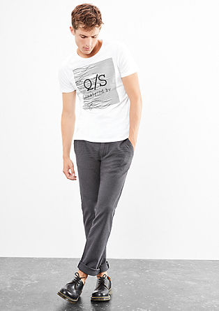 T-shirt with a textured label print from s.Oliver