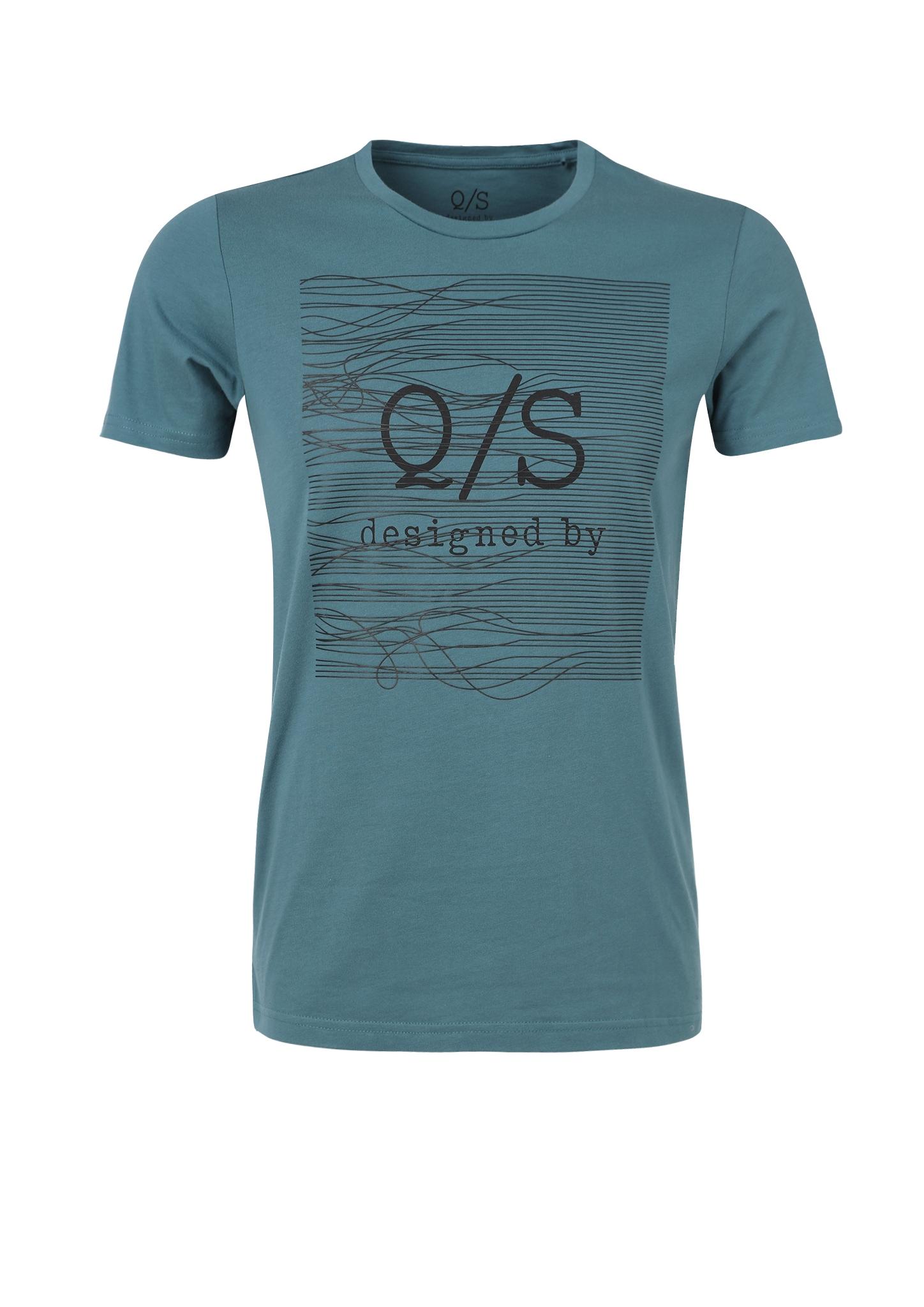 T-Shirt | Bekleidung | Blau/grün | 100% baumwolle | Q/S designed by