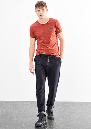 Cotton trousers in a tracksuit style from s.Oliver