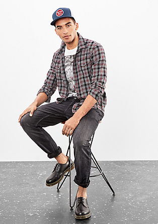 Extra Slim: Soft check shirt from s.Oliver