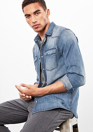 Extra Slim: Lightweight denim shirt from s.Oliver