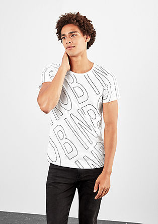 Black/Whit-Shirt mit Allover-Print