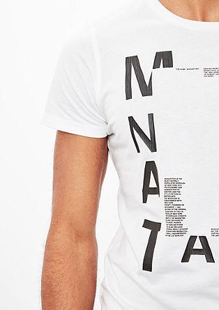 Printshirt mit Wording