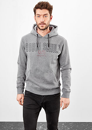 Hoodie with a logo print from s.Oliver