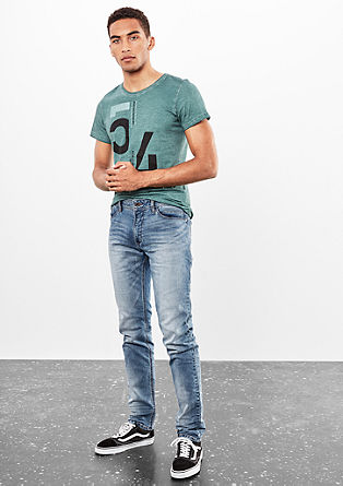 Rick Slim: jeans with a garment wash from s.Oliver
