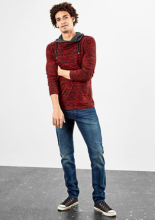Fine knit jumper with a shawl collar from s.Oliver
