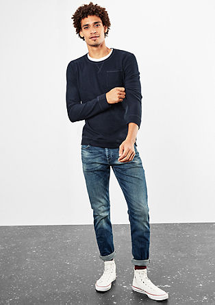 Long sleeve top with a chest pocket from s.Oliver