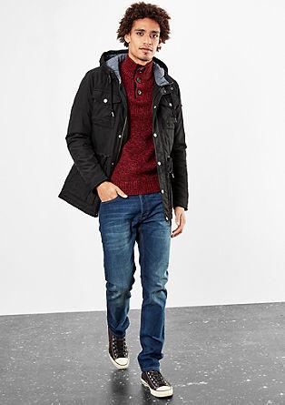 Podložena platnena jakna s kapuco