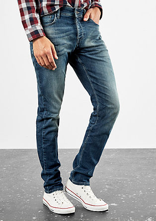 Rick slim: garment-washed jeans