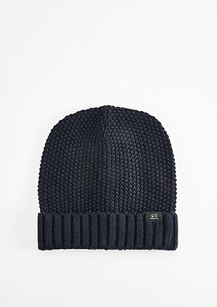 Waffle piqué knit hat from s.Oliver