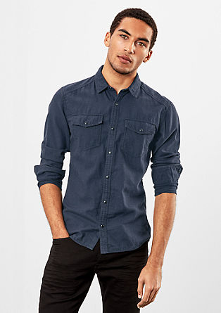 Extra Slim: shirt with a small check pattern from s.Oliver