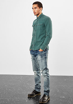 Extra Slim: Hemd im Pepita-Design