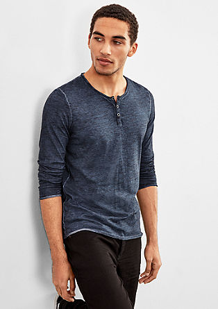 Henley-Shirt mit Farbeffekt