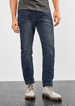 Liam Straight: hlače iz rebrastega žameta obrabljenega videza