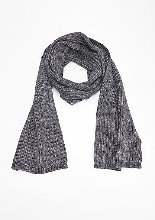 Melange rib knit scarf from s.Oliver
