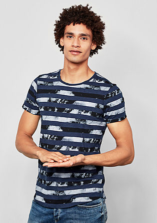 T-shirt with print stripes from s.Oliver