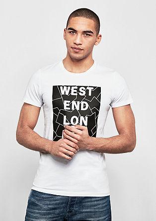 T-Shirt mit 3D-Schriftzug