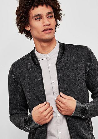 Bomber-style sweatshirt jacket from s.Oliver