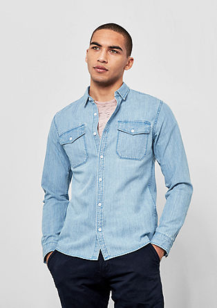 Slim: klassiek denim overhemd