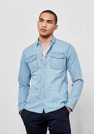 Slim: Klassisches Jeanshemd