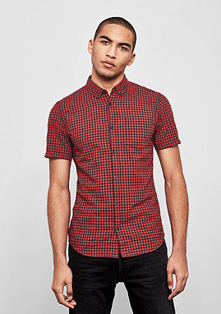 Extra Slim: gingham check shirt from s.Oliver