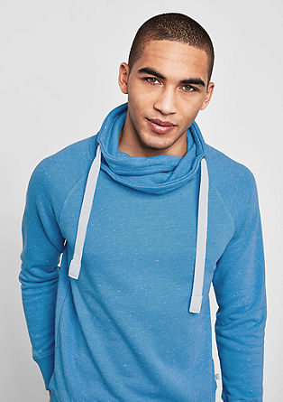 Gemêleerde sweater met turtleneck