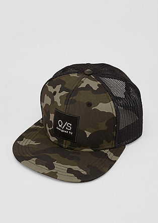 Baseball cap with a camouflage print from s.Oliver