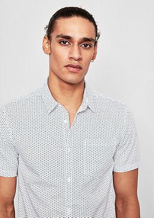 Extra Slim: vzorčasta bombažna srajca