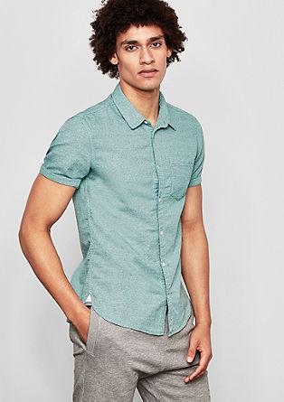 Extra Slim: Hemd aus Leinenmix