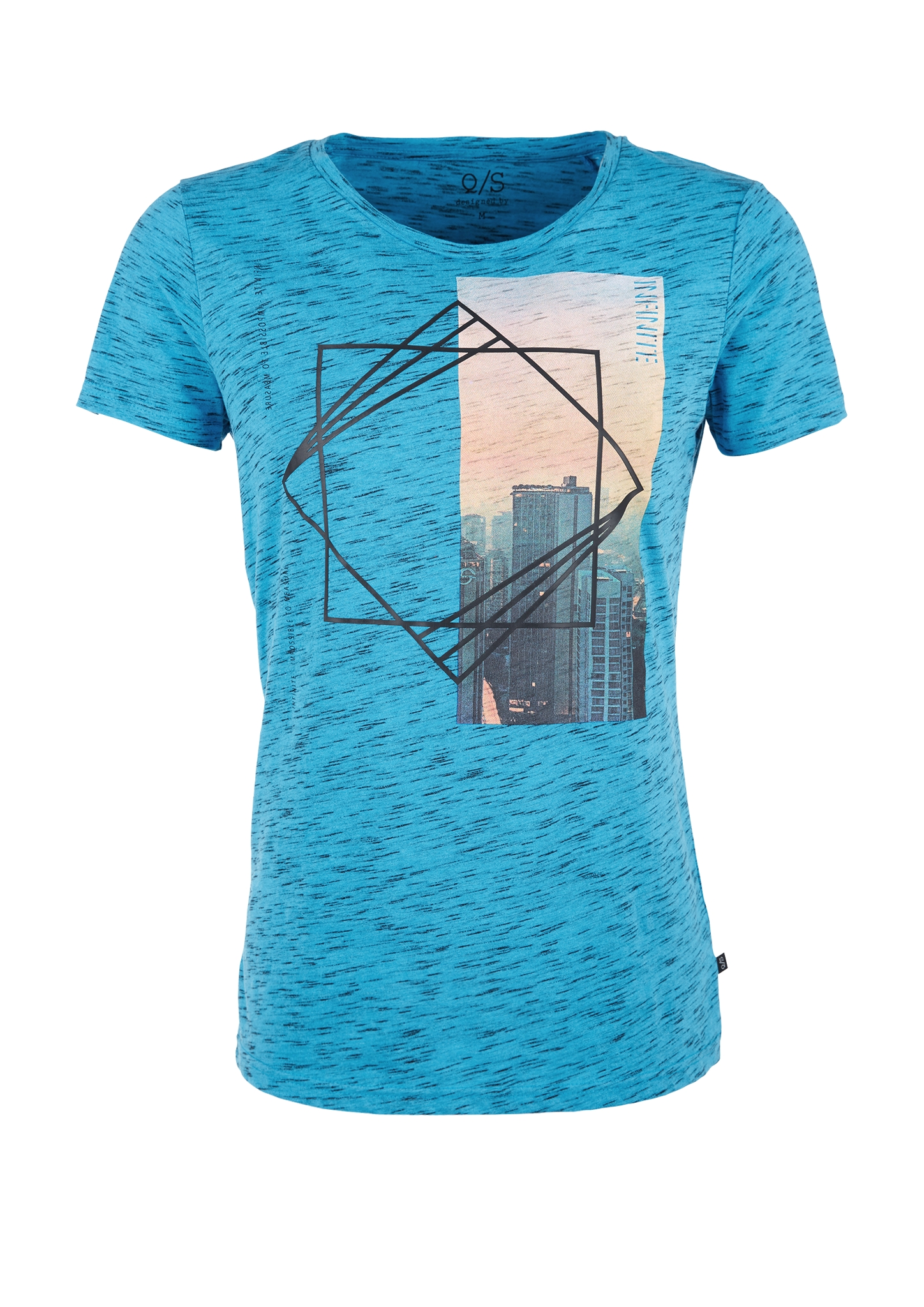 T-Shirt | Bekleidung > Shirts | Blau | 92% baumwolle -  8% polyester | Q/S designed by