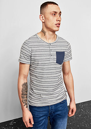 T-shirt with an jacquard pattern from s.Oliver