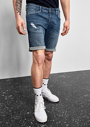 Rick slim: denim short in een used look