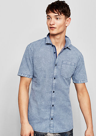 Shirt with a washed finish  from s.Oliver