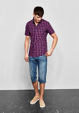 Extra Slim: Twill-Hemd mit Karomuster