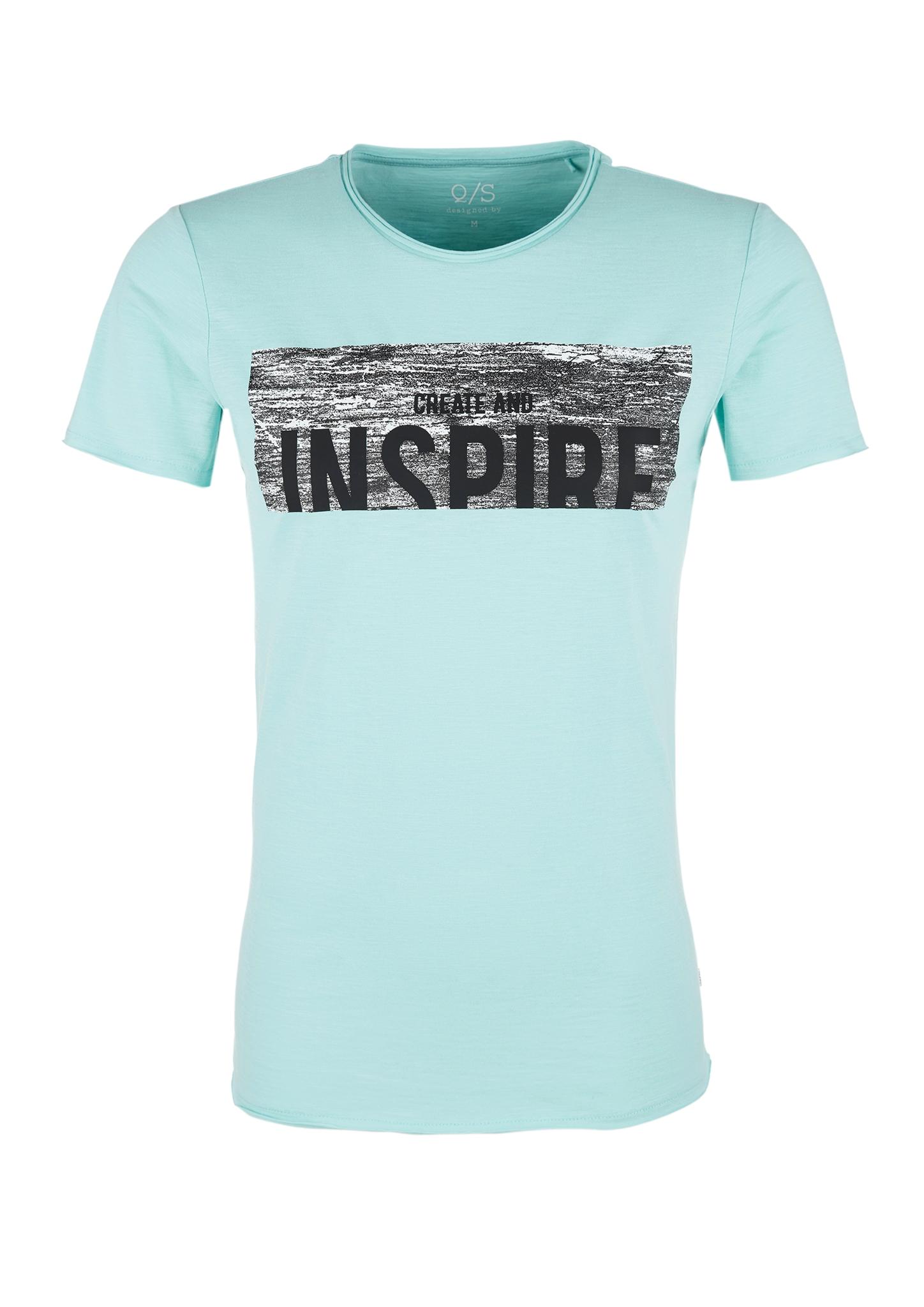Flammgarm-Shirt | Bekleidung | Blau/grün | 100% baumwolle | Q/S designed by