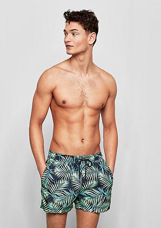 Zwemshort met een tropische print