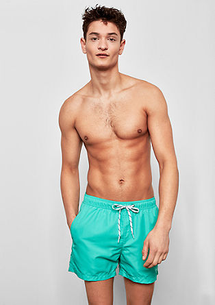 Swim shorts with drawstring ties from s.Oliver