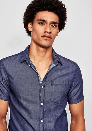 Extra Slim: Hemd mit Webstruktur