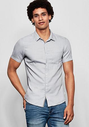 Extra slim: overhemd met weefstructuur
