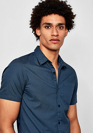Extra Slim: Hemd mit Krawattenmuster