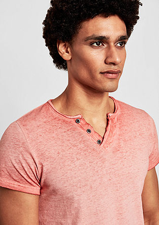 Henley T-shirt in a sun-faded look from s.Oliver