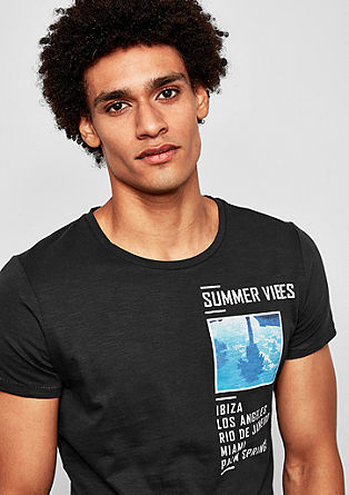 T-shirt with a summer print from s.Oliver