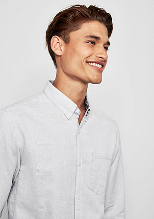 Extra slim: overhemd met een geweven motief
