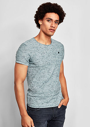 Gemêleerd shirt met borstzak