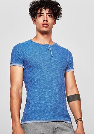 Shirt van slubgaren, in reversible look