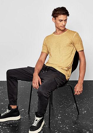 Shirt van slubgaren in cold pigment dye